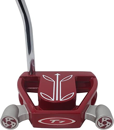 T7 Twin Engine Red Mallet Golf Putter Right Handed with Alignment Line Up Hand Tool 33 Inches Petite Lady s Perfect for Lining up Your Putts