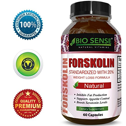 Best Forskolin Weight Loss Supplement for Men and Women  Coleus Forskohlii Extract Standardized 20% Forskolin Diet Pills Fat Burner Energy Booster Potent Appetite Suppressant by Bio Sense