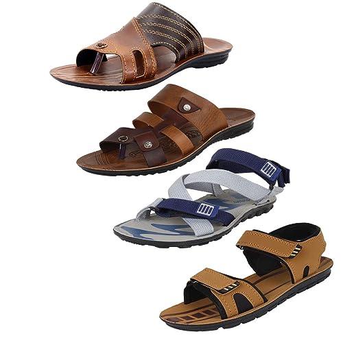 8f08e835a Earton Mens Stylish   Trendy Multicolor Combo Canvas Sandals   Floaters ( COMBO-1043+