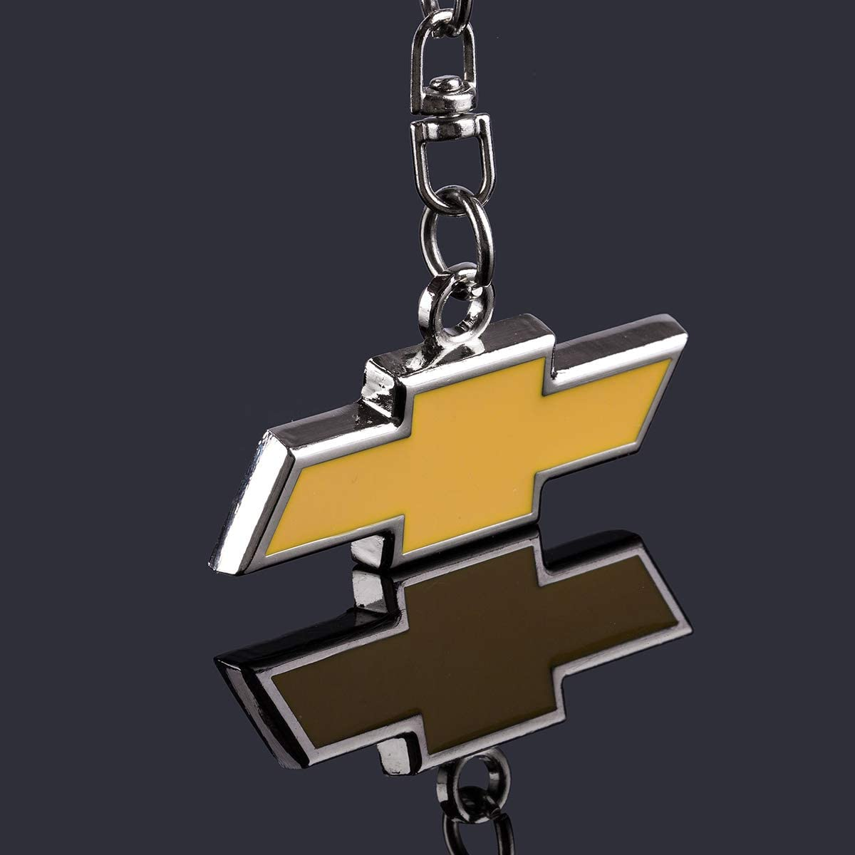 Chevrolet 3d Chrome Premium Metal Key Chains Key Rings Wtih Car Logo Best For Gifts Acgoing