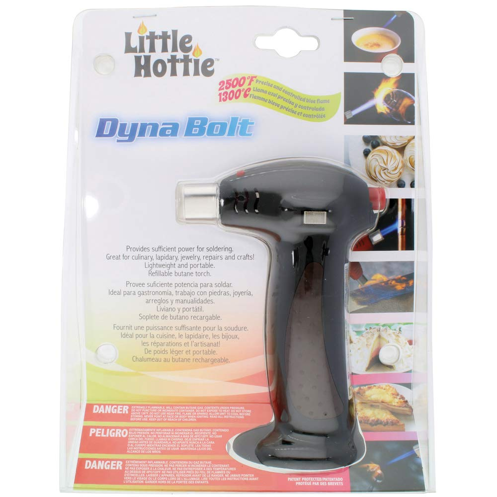 Amazon.com: Little Hottie Dyna Bolt Butane Torch - Black - Freestanding Removable Base - Soldering, Culinary, Lapidary, Jewelry, Repairs, ...