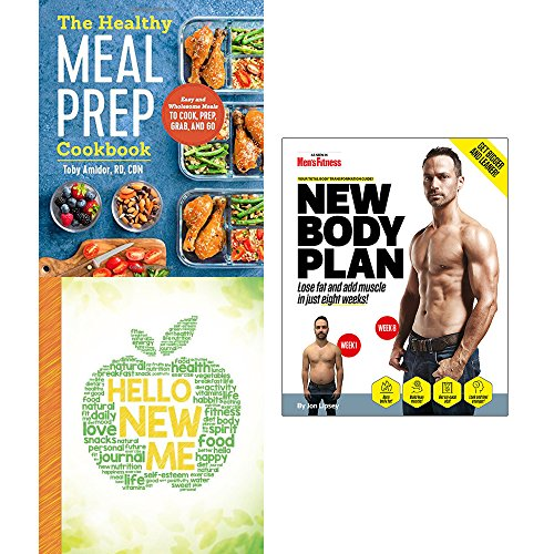 Price comparison product image Healthy meal prep cookbook,  hello new me and new body plan 3 books collection set