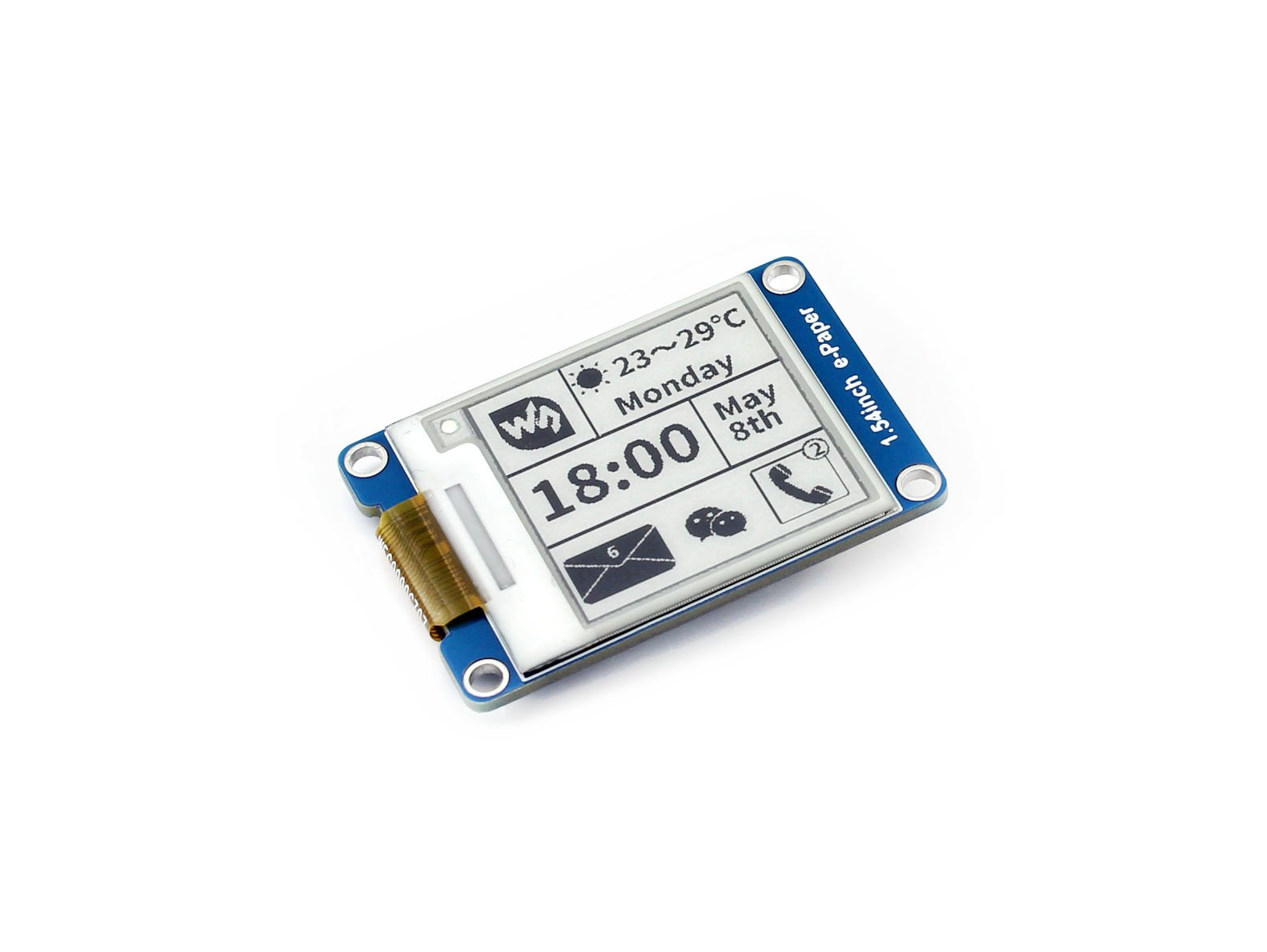 200x200, 1.54inch E-Ink display module,1.54inch e-Paper,SPI interface,Supports partial refresh by waveshare (Image #2)
