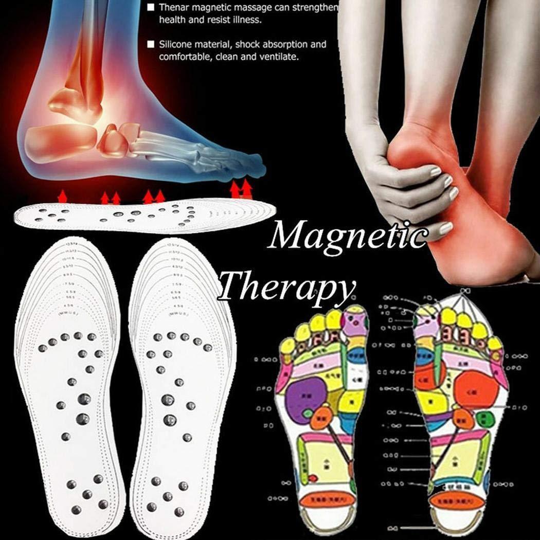 SoTeer semelles magnetiques amincissantes en coton /à m/émoire semelles de massage coussinets semelles de chaussures pads pour hommes Femmes