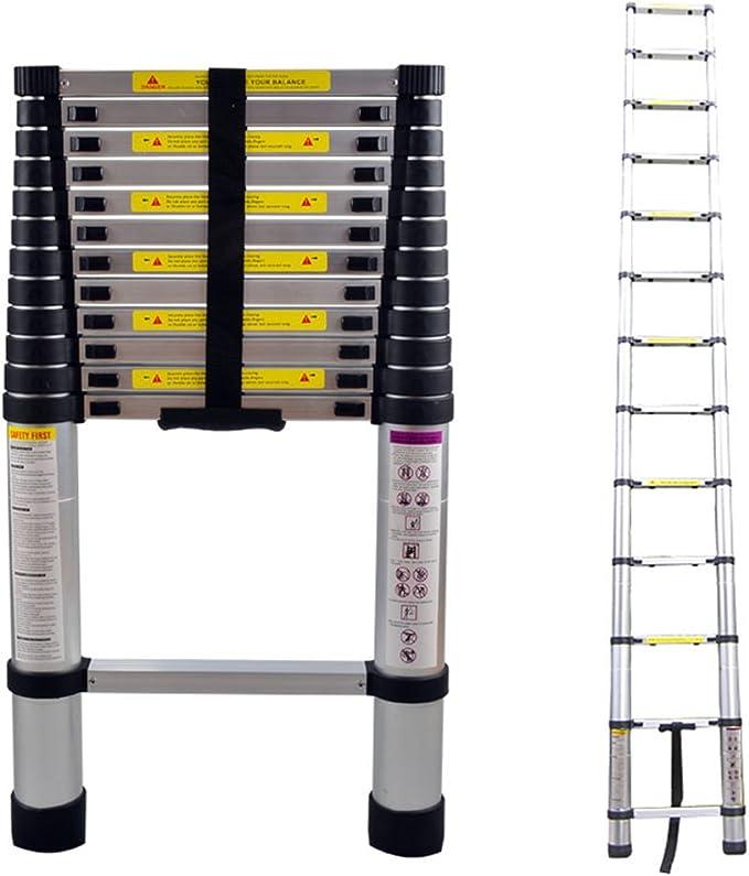 LARS360 3.8m Escalera Telescópica Multifunción Escalera extensible multiusos Plegable Escaleras Alto de llamas aluminio: Amazon.es: Bricolaje y herramientas