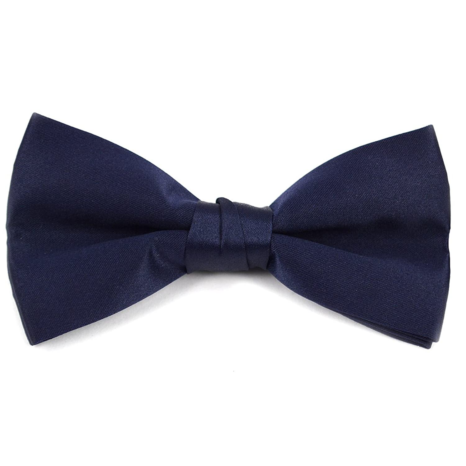 new Kids Pre Tied Clip on Bow Tie-Navy hot sale