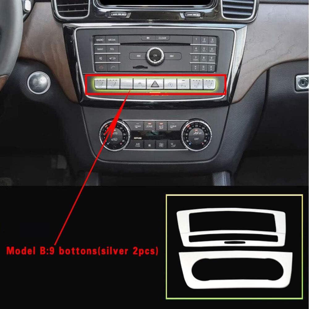 DAETNG Int/érieur de Voiture d/écoratif Panneau de CD de Fibre de Carbone Accessoires de Couverture commutateur de climatisation adapt/és pour Mercedes Benz GLE W166 GLE coup/é C292 GLS X166 AMG Carbon