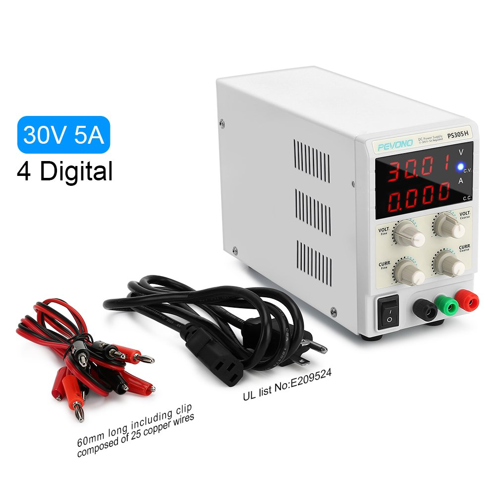 Dc Bench Power Supply Variable Pevono Ps305h 0 30v 5a Adjustable 0100v 50 Amp Smps Circuit Electronic Projects Lcd Display Accurate Voltagecurrent Switching Regulated With