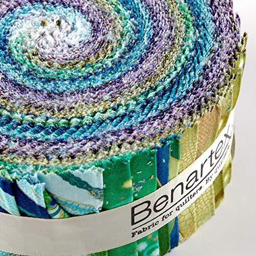 Benartex Kanvas Dance of The Dragonfly 2.5in Pinwheel Strips Metallic, by Benartex (Image #1)