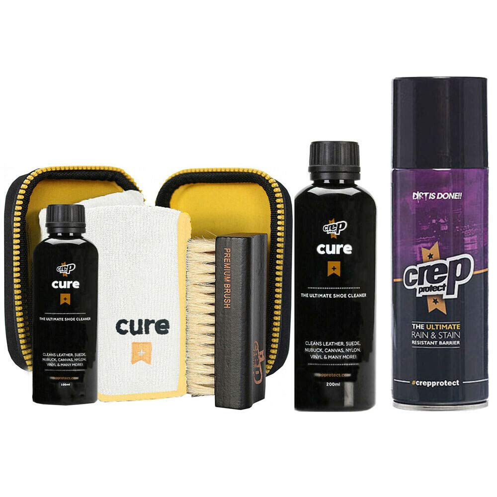Crep Protect Cure Travel Kit, Cure Shoe Cleaner + Shoe Spray (Pk) Sneaker Kicks by quickly store
