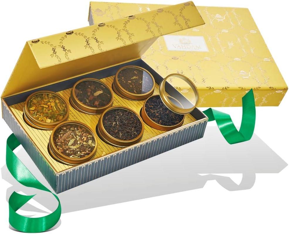 VAHDAM, Surtido de tés para regalo – GLOW, 6 tés en caja de regalo | EL TÉ FAVORITO DE OPRAH | Ingredientes 100% naturales – Regalos para el Día de la Madre | Regalos originales para mamá