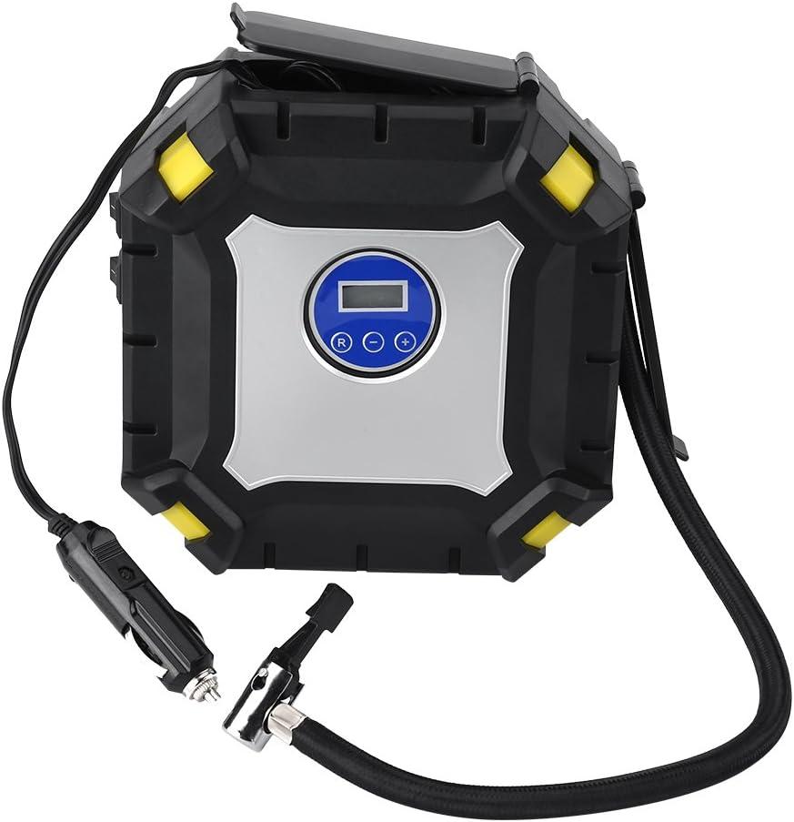 Pompe de Pneu de Compresseur Dair Avec ladaptateur de Valve Compresseur Dair 100 PSI pour le V/élo de Voiture Pompe /à air de Pneu de 12V