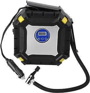 12V Tyre Inflator, Air Compressor Tyre Pump Come with Valve Adaptors, Air Compressor 100 PSI for Car Bike Ball