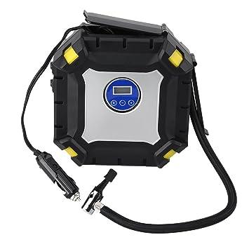 El inflador del neumático 12V, bomba de neumático del compresor de aire viene con los