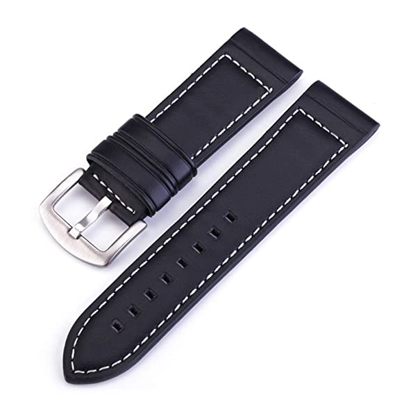 Amazon.com: Leather Watchband Men Women Watch Band Wrist ...