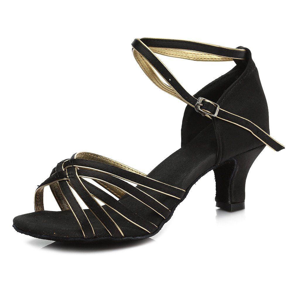 SWDZM Chaussures de Danse Femme Standard Latin Jazz Ballet Chaussures Satin Model-FR-213