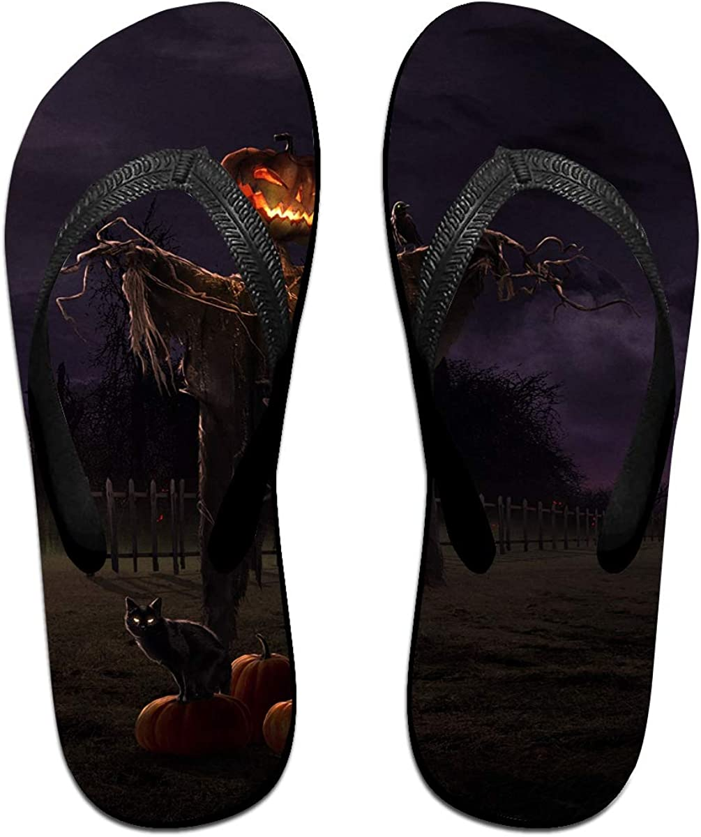 Couple Slipper Scarecrow Print Flip Flops Unisex Chic Sandals Rubber Non-Slip Beach Thong Slippers