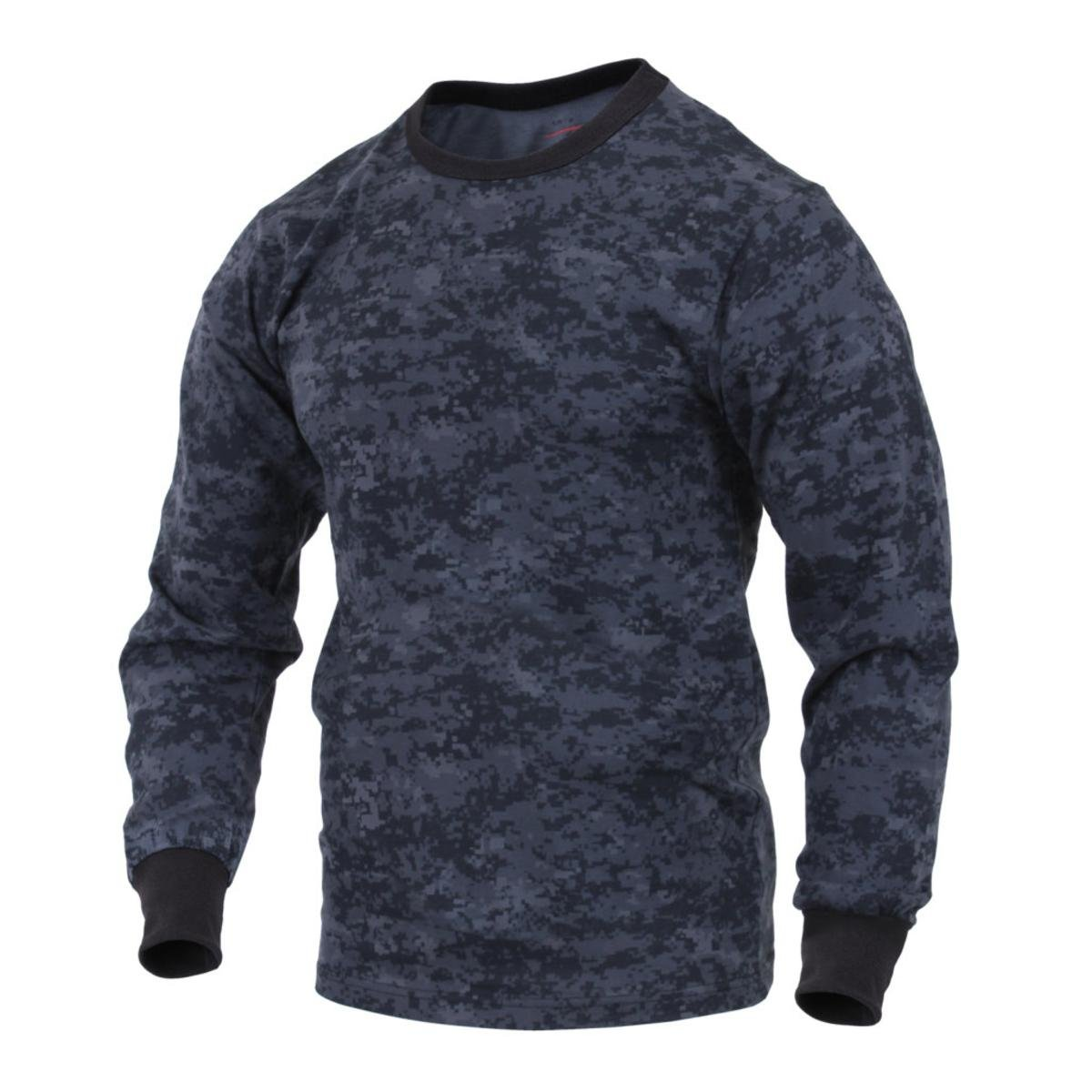 Rothco Long Sleeve Digital T-Shirts, Midnight Digital Camo, X-Large 16308