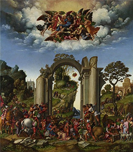 Polyster Canvas ,the Amazing Art Decorative Prints On Canvas Of Oil Painting 'Girolamo Da Treviso The Adoration Of The Kings ', 16 X 18 Inch / 41 X 47 Cm Is Best For Basement Decoration And Home Decoration And Gifts ()