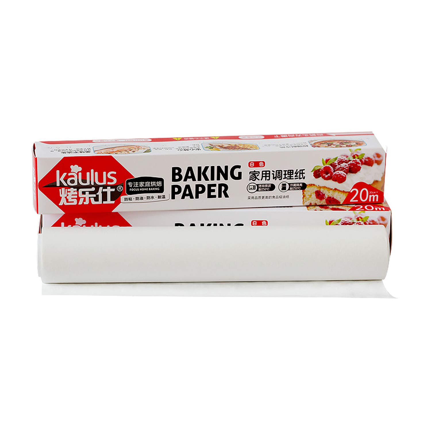 Baking Paper High Temperature Resistance Silicone Bakeware Mat Oil Paper Greaseproof Paper Absorbing Oilpaper,20M by homesDecor