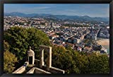 City View, San Sebastian, Spain by Walter Bibikow / Danita Delimont Framed Art Print Wall Picture, Black Frame, 39 x 27 inches