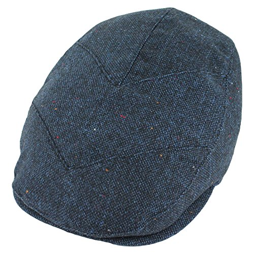 Belfry Tempo Navy Wool Blend Lined Ivy Flat Pub Cap (Large)
