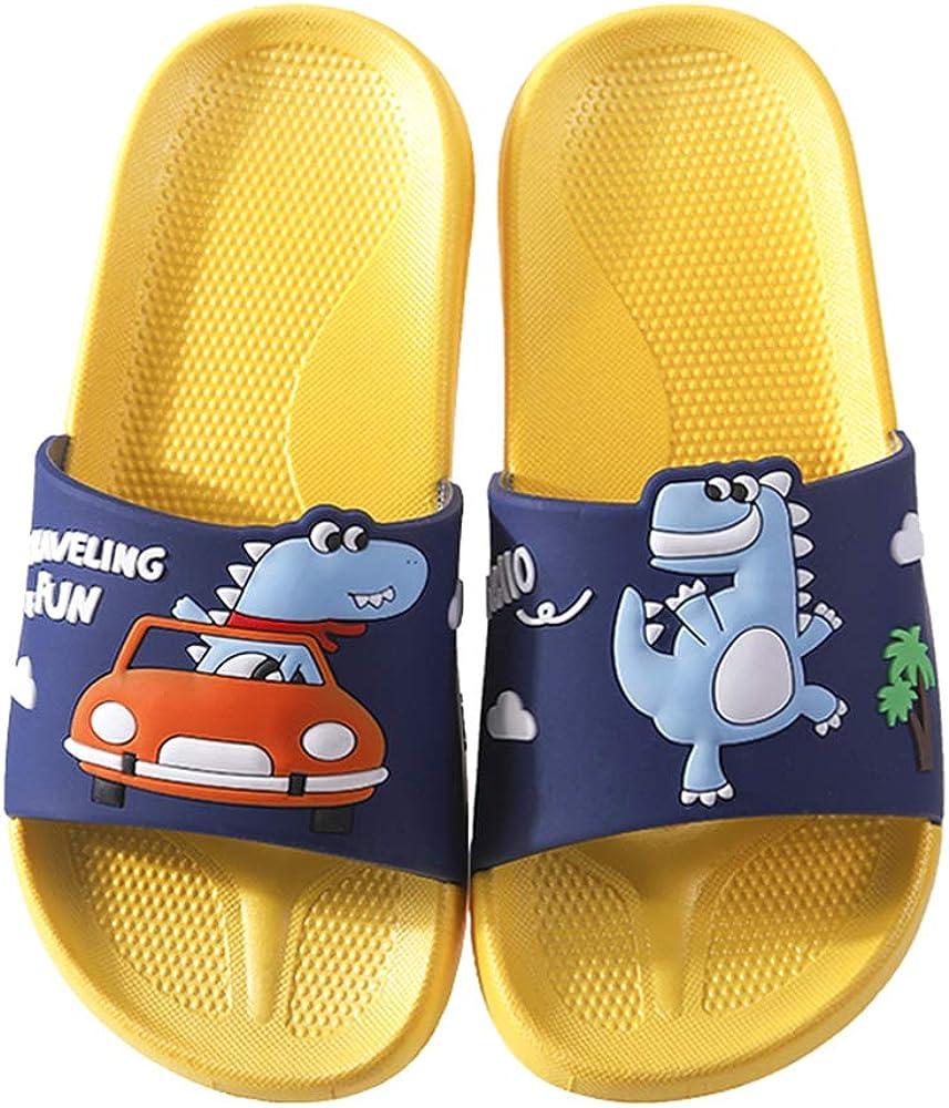 Kids Summer Slipper Magic Lightning Dragon House Slippers Shower Slide Anti-Slip Beach Pool Bath Sandals for Boys Girls