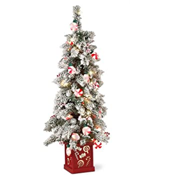 peppermint christmas tree with lighted base decor perfect for home indoor - Peppermint Christmas Tree
