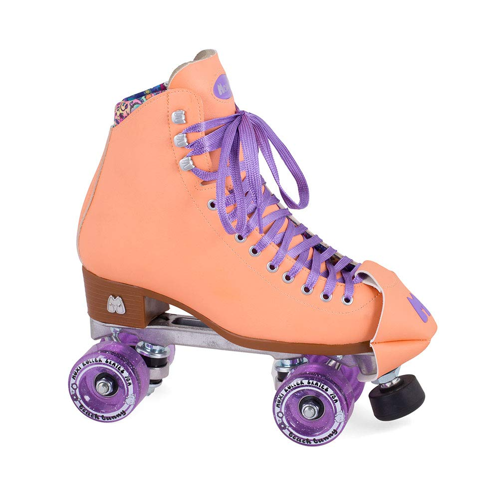 Moxi Skates - Beach Bunny - Fashionable Womens Roller Skates   Peach Blanket   Size 2
