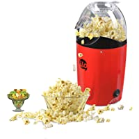 BMS Lifestyle ilo-101 Hot Air Popcorn Popper Electric Machine Snack Maker, with Measuring Cup and Removable Lid (Red)