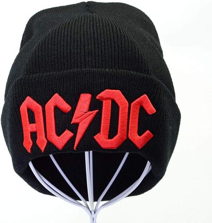 Yooci Gorras De Hombre Invierno Invierno AC/DC Bordado Letra Gorro ...