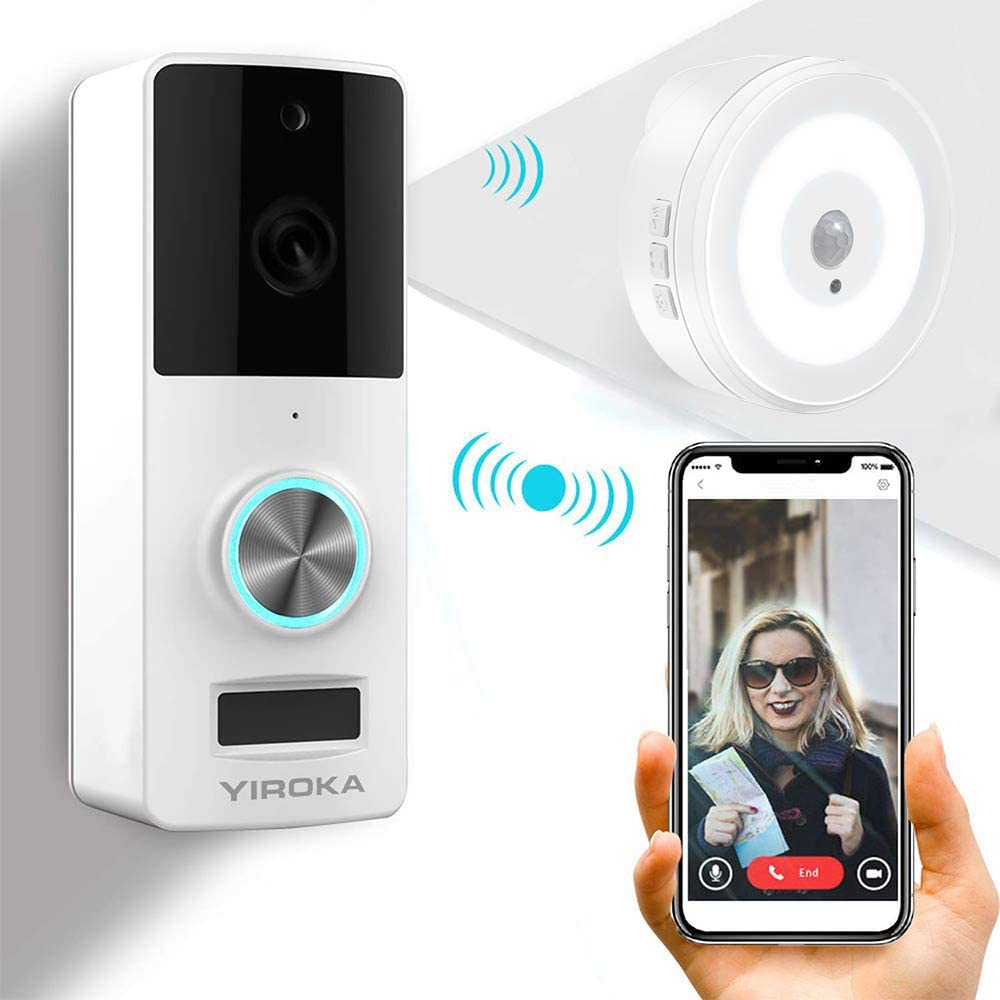 Yiroka Video Doorbell, 720P HD Security Camera with Two-Way Talk &Video