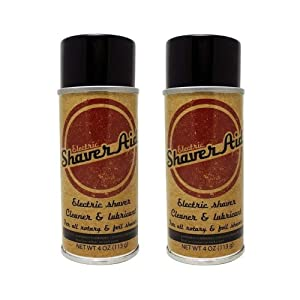 ShaverAid Electric Shaver and Razor Cleaner Lubricant Spray 2 Pack for Norelco, Braun, Remington, Wahl, etc.