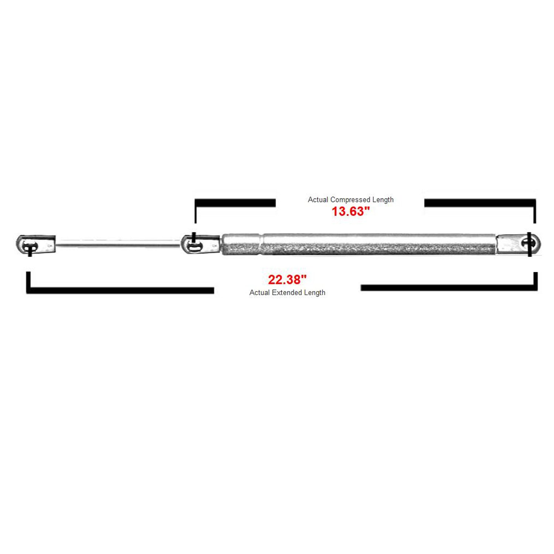 2 Pcs Front Hood Lift Supports Struts Shocks Springs Shocks Struts for 2007-2013 Acura MDX 6339 PM1109