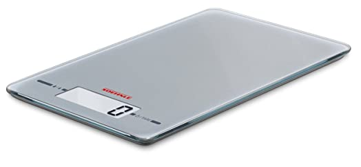 Soehnle Page Evolution Electronic Kitchen Scale, Ultra Thin 9.9 Mm   Silver