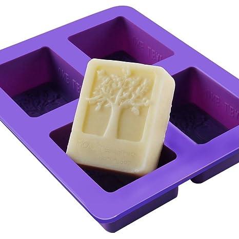 Leisial™ DIY Molde de Pastel de Silicona Forma en Árbol Moldes de Amor Rectangulares para