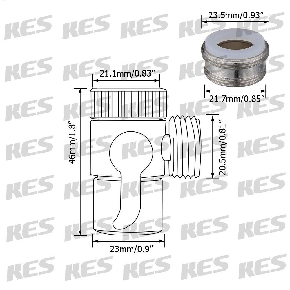 Amazon.com: KES BRASS Sink Valve Diverter Faucet Splitter for ...