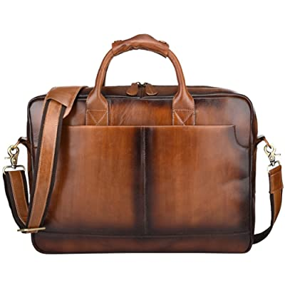Berchirly Travel Briefcase Messenger Bag Satchel Shoulder Bag Bookbag