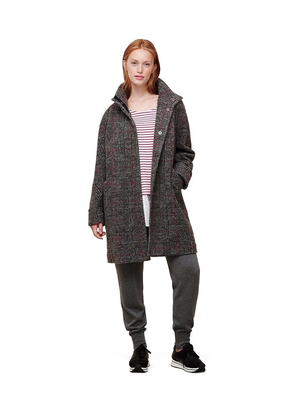 Violeta By Mango Women's Plus Size Check Wool-Blend Coat