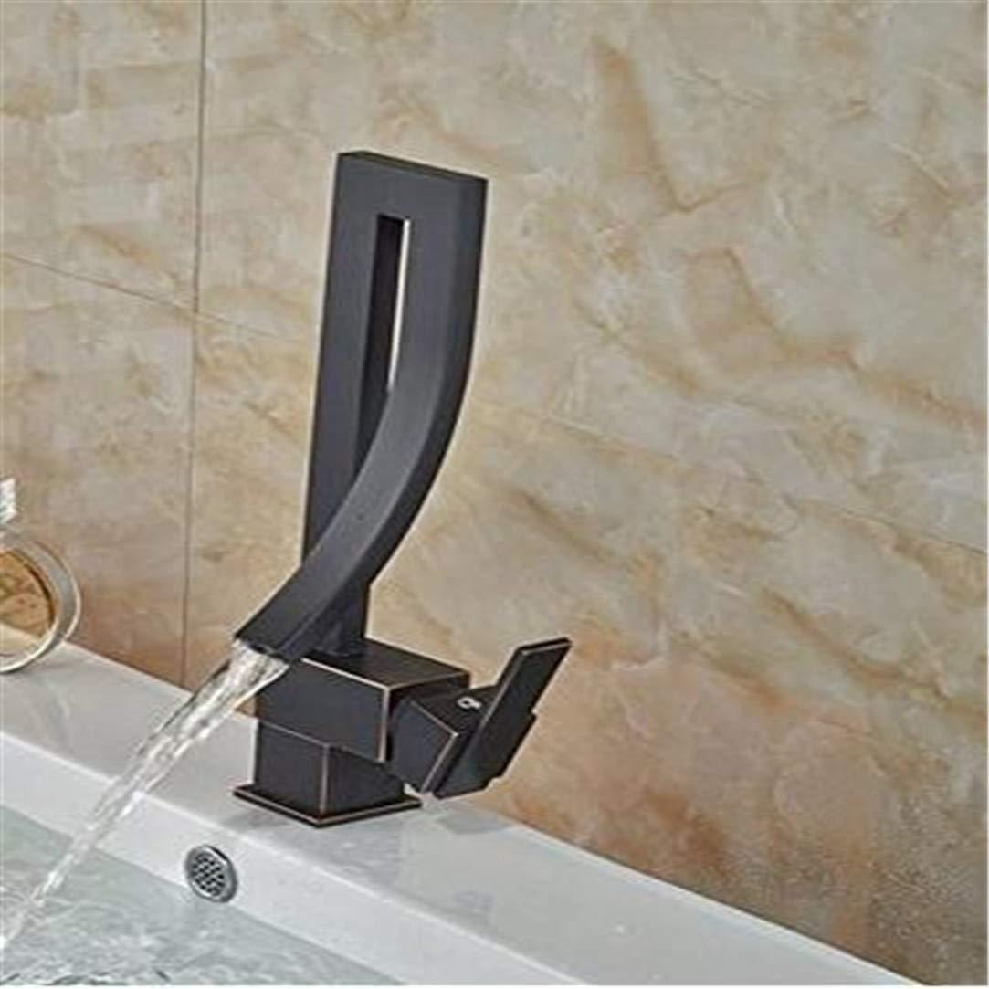Wasserhahn Waschtischmischer Becken Wasserhahn Deck Berg Badezimmer Mixer Wasserhahn Öl Eingerieben Bronze Wasserhahn