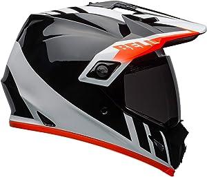 Bell MX-9 Adventure MIPS Full-Face Motorcycle Helmet (Dash Gloss Black/White/Orange, Large)