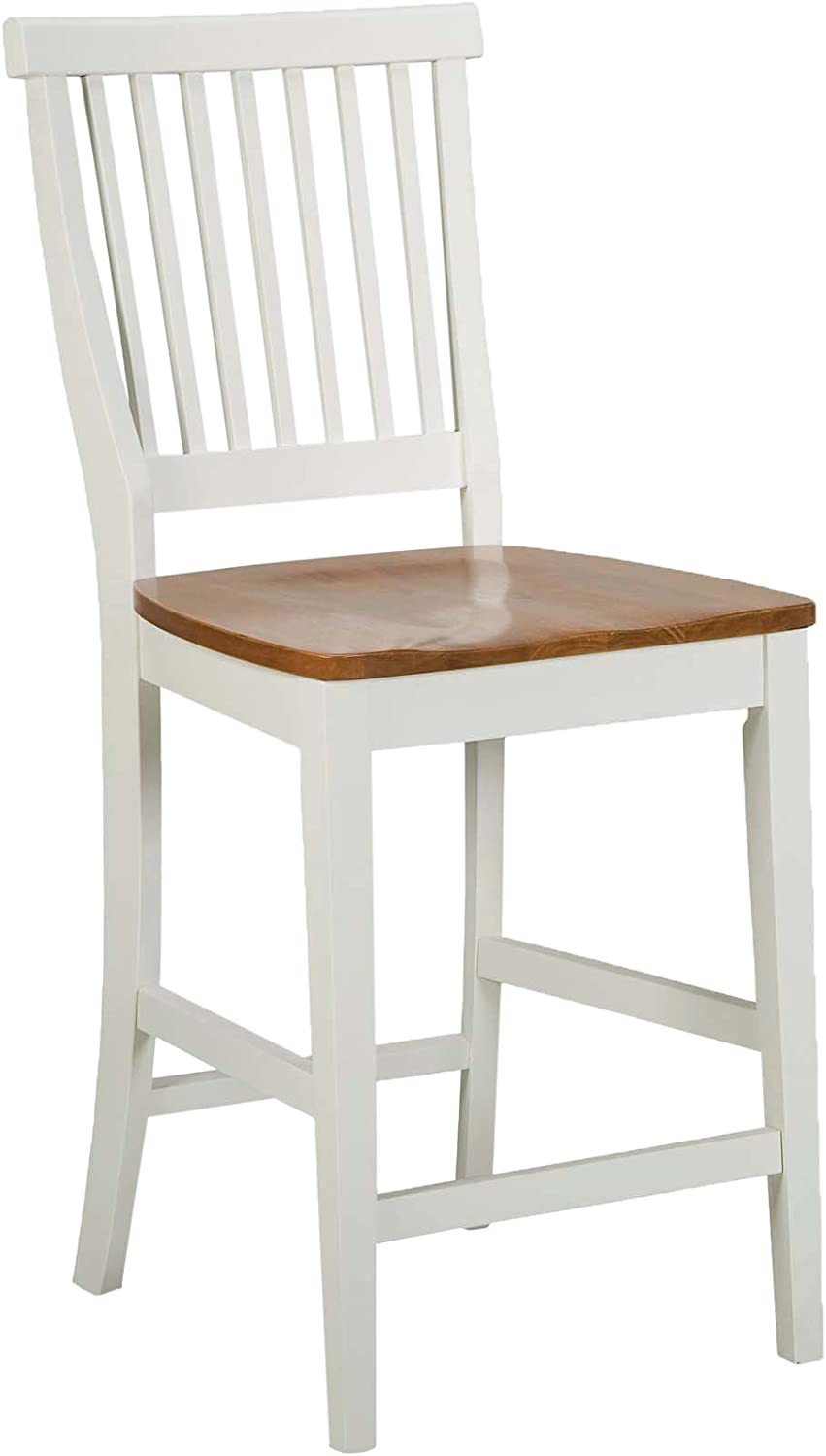 Americana White Distressed Oak bar Stool, 24 , by Home Styles