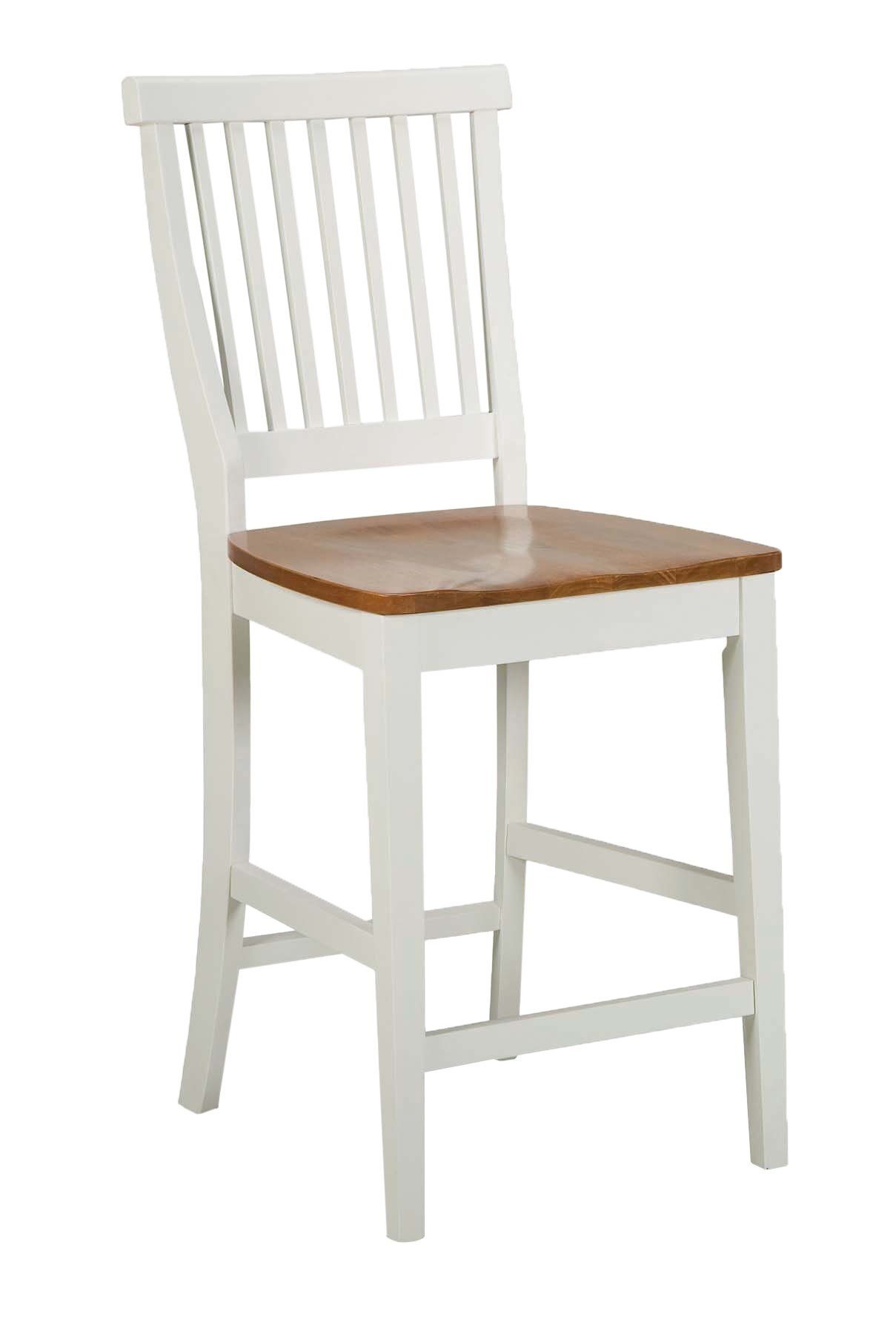 Americana White & Distressed Oak bar Stool, 24'', by Home Styles by Home Styles