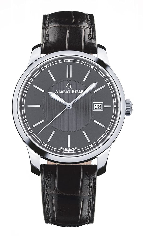 Albert Riele Herren Armbanduhr CONCERTO Analog Quarz schwarzes Lederarmband 206GQ02-SS22I-LB