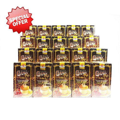 20 Boxes Gano Cafe 3-in-1 By Gano Excel USA Inc. - 400 Sachets