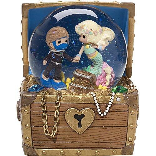 Figurine Musical Treasures - Precious Moments,  Love Is The Greatest Treasure, Resin/Glass Musical Snow Globe, 164104