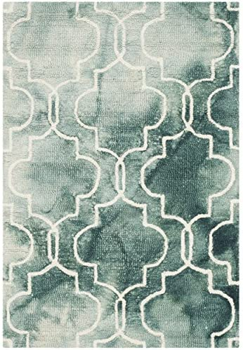 Safavieh Dip Dye Collection DDY676J Handmade Geometric Watercolor Graphite and Ivory Wool Area Rug 2 x 3