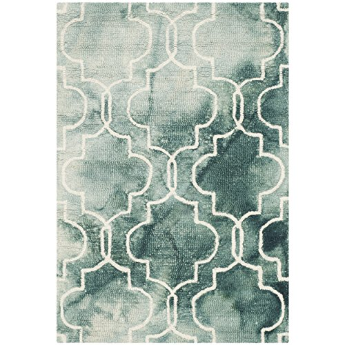 Safavieh Dip Dye Collection DDY676J Handmade Geometric Watercolor Graphite and Ivory Wool Area Rug 3 x 5