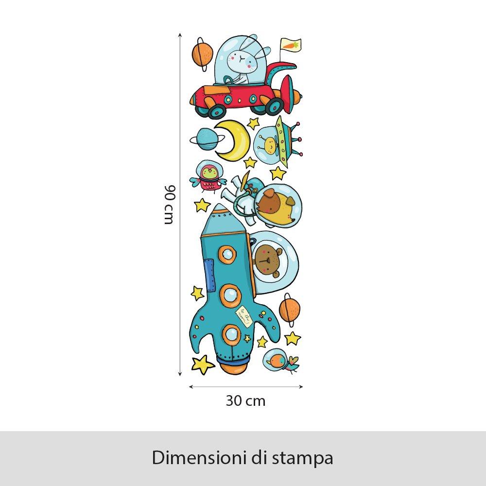 wall art r00332/Pegatinas de Pared para ni/ños Espacial Calle 30/x 90/x 0,1/cm