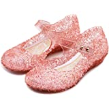 eccbox Princess Girls Sandals Dance Party Cosplay Jelly Shoes Mary Jane for Toddler Kids